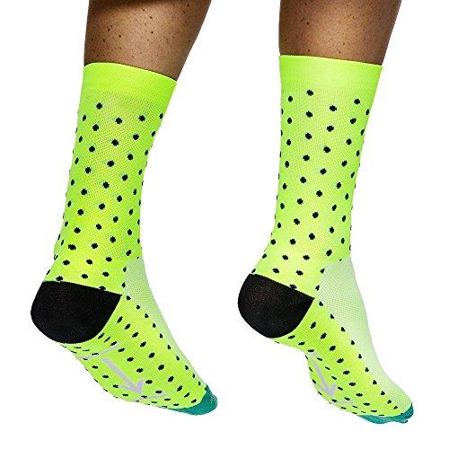 Borvelo Herren-Bike-Qualität Radsocken,Fahrradsocken,MTB Socken, Schutz Füße, atmungsaktive Kern, Schweiß-absorbierende Bike-Socken