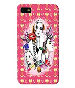 Fuson Gilrs with Pattern Back Case Cover for BLACKBERRY Z10 - D4084