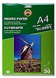 Koh-I-Noor 9757L20001PO Papier photo jet d'encre brillant 20 feuilles format A4 200 Gsm