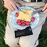 OUTDOOR FREAKZ Outdoor Campingbesteck Klapp-Besteck aus Edelstahl mit Gürteltasche, das Original! (blau +) -