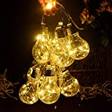 CITRA LED Clear Bulb Copper String Lights,10 Bulbs Warm White Globe LED Wire