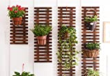 FAFZ Mehrstöckiger Holz-Topf-Rack / Wohnzimmer Blumen-Rack / Balkon Dekorative Rahmen / Vertikale Blume Rack / Wohnzimmer Hanging Holz Blumentopf Rack (Anzahl der Produkte: 1- - Nur die Blume Rack) ( Farbe : 60+90+120+150cm )