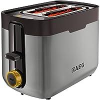 AEG AT5300-U 5 Series Stainless Steel 2 Slot Toaster - Black by AEG