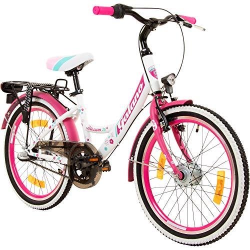 Galano 20 Zoll Kinderfahrrad Blossom Mädchenrad Jugendrad Cityrad (pink)