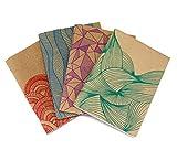 Kit 4 Quaderni 12x17 Organic in cuoio riciclato e carta riciclata
