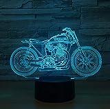 lascia un commento Modello personalizzato Telecomando per motocicletta Luce notturna 3d Incantevole cambio di colore 7 Lampada 3D Regalo di Natale per le luci della stanza del bambino