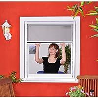 Slim Rollo - Fliegengitter für Fenster als Rollo - Insektenschutzrollo Fliegengitterrollo Smart - 160 x 160 cm (weiß)