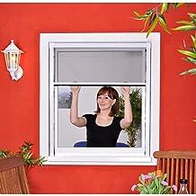 Slim Rollo - Fliegengitter für Fenster als Rollo - Insektenschutzrollo Fliegengitterrollo Smart - 160 x 160 cm (braun)