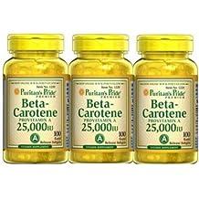 PURITANS-PRIDE - PACK 2U+1 BETACAROTENO 100 PERLAS 25000 UI - betacaroteno-25000ui-pack