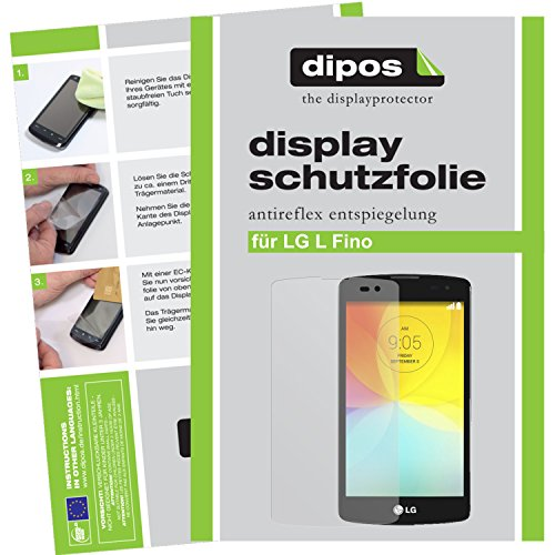dipos LG L Fino Schutzfolie (2 Stück) - Antireflex Premium Folie matt