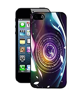 Fuson 2D Printed Lens Designer Back Case Cover for Apple iPhone 5S - D637