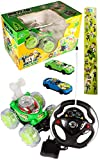 Rechargeable Gravity Steering RC Ben 10 Stunt Car with Light Effect & 2 Push Cars & 1 Sticker Strip with 19 Stickers