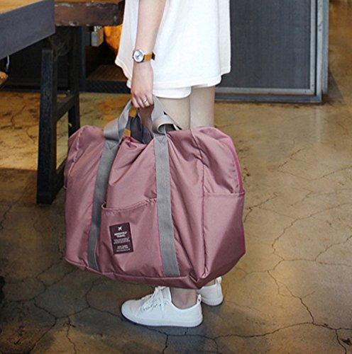 Sentao Multifunktionale Leichtes Tragbares Handgepäck Faltbare Reisetasche aus Polyester Pink