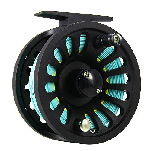 Bearing Service Set (1+1B Bearing Fly Fishing Reel Fishing Line + Extension Line+Taper Leader+Tippet Set Blue&Yellow)