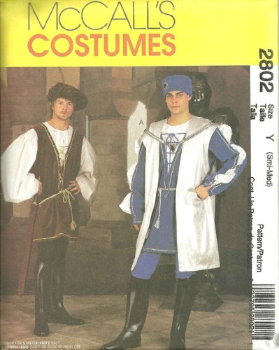 Gespräche McCall 's Renaissance Muster 2802. Herren SZS S & M Kostüme. Brust: 86,4–101,6cm von McCall ()