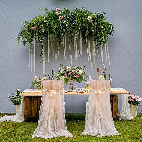 2pcs Hochzeit DIY Stuhlüberzug, Spitze, Stuhldekoration, für Hochzeitsdekoration, geeignet für Stühle, Bögen, Hochzeiten, Baby-Duschen, Geburtstage, Bankette, Partys