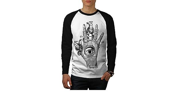 Gli illuminati a mano uomo manica lunga T-shirt Nuovewellcoda