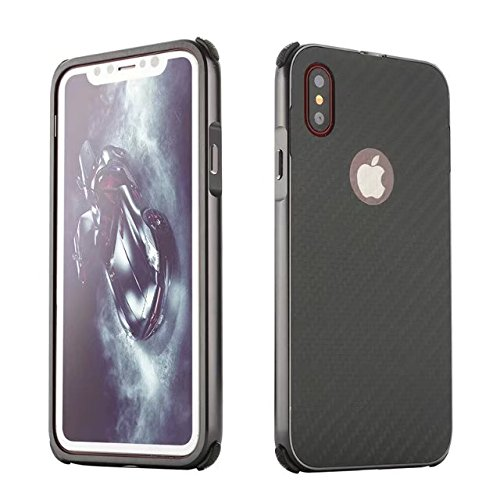 Meimeiwu Copertura della cassa del PC + METALLO doppio Materiale Telefono Armatura Bumper Protictive Cover Custodia Per iPhone 8 - Grigio Grigio