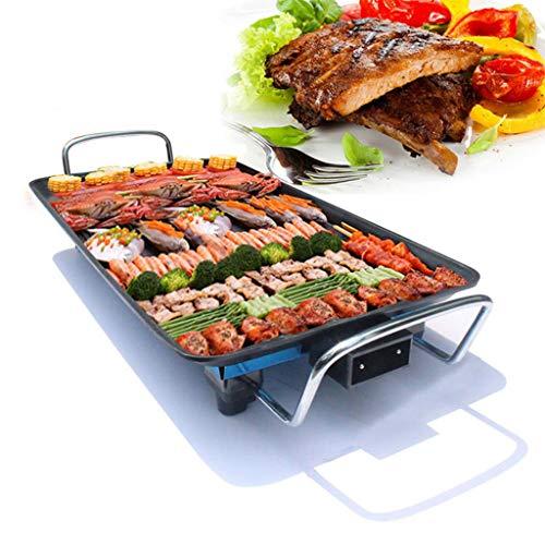 DSADDSD Elektrischer Grill, Koreanischer Haushalts-Elektrischer Ofen, rauchfreie Grill-Maschine, Elektrische Backform, Eisen-Platten-Grill-Fleisch-Wanne,