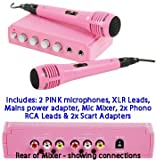 KNG 2 x PINK MICROPHONES Package: Pink Karaoke Mic for sale  Delivered anywhere in Ireland
