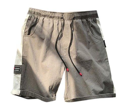 CuteRose Mens Beach Oversized Athletic Fit Roll Hem Vogue Summer Short XL Army Green (Roll Shorts Hem)