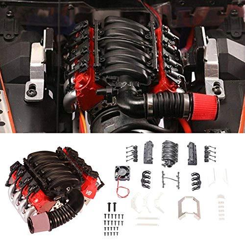 V8 Motorabdeckung und Lüfterkühler für Traxxas TRX4 D90 D110 D130 SCX10 -