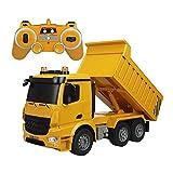 iBaste Bagger Schaufelbagger 1:12 Baustellenfahrzeuge RC Ferngesteuert Auto Spielzeug Metall mit Einfacher Bedienung, für Kinder ab 8 Jahre Alt