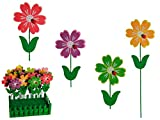 12x Holz Gartenstecker Blume Marienkäfer Pflanzstecker Beetstecker Gartendeko