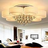 Kusun® Kristall Deckenleuchte 7-flammig Deckenlampe Ø90cm Designer Wohnzimmer Weiß Lampe Ohne E27 Glühbirne