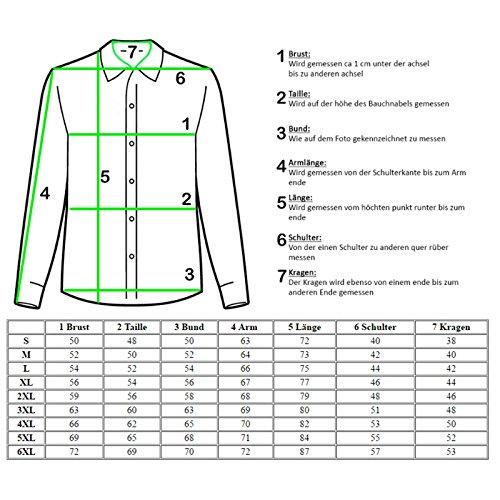 Baxboy Kontrast Business Anzug Freizeit Polo Slim Fit Figurbetont Hemd Langarmhemd R-44 Weiss/Schwarz