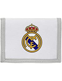 safta- Real Madrid-Billetera 811624036, Color Blanco y Gris, 13 cm (