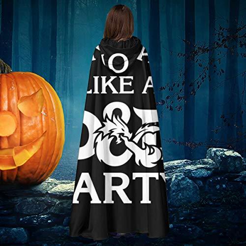 Robe Kostüm D'halloween - AISFGBJ Unisex-Umhang mit Kapuze, Aufschrift