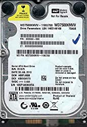 Western Digital Wd7500kmvv-11bg7s0Usb 2.0750Gb Dcm: Ehbtjbbn