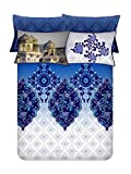 Bombay Dyeing Celebrating India 300 TC Cotton King Sized Bedsheet with 4 Pillow Covers