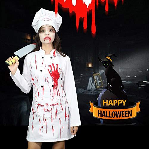 Kostüm Chef Männlichen - Noble Halloween Adult Performance Kostüm Cosplay Performance Kleidung Female Scary Horror Bloody Blood Female Chef Kleidung