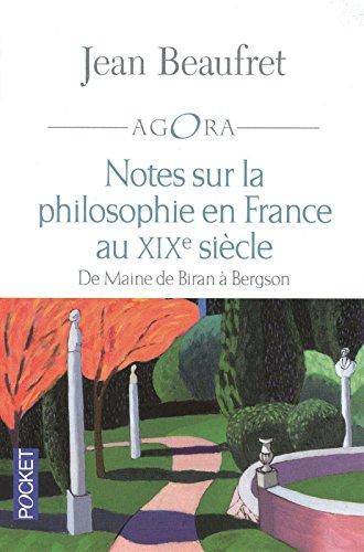 Notes sur la philosophie en France au XIXe sicle