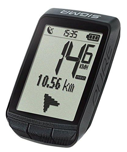 Sigma Sport Fahrrad Computer PURE GPS, Höhenmessung, Kompass-Navigation, Kabelloser Fahrradtacho, Schwarz - 3