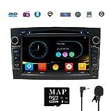 GPS per auto stereo satellitare Navigatore per Opel, unità a doppia testa Din 7 pollici 2 car stereo con lettore CD DVD Supporto GPS, USB SD, FM AM RDS, Bluetooth, SWC (Nero)