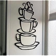 ✽Internet✽ Desmontable Decoración de la cocina de DIY Decorativas de la Copa de la Casa del Café Vinilo Etiqueta