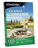 Wonderbox - Coffret cadeau couple ESCAPADE GOURMANDE EN AMOUREUX - plus de 1.000 séjours gourmands en manoirs, hôtels de charme, maisons d'hôtes authentiques pour 2 personnes.