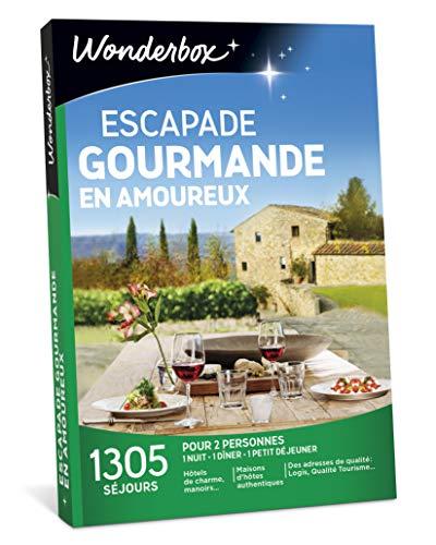 Wonderbox - Coffret cadeau couple ESCAPADE GOURMANDE EN AMOUREUX - plus de 1.000...