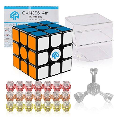 Coogam GAN 356 Air Master Cubo de Velocidad 3x3x3 Negro Gans 356 Air Puzzle Cubo Azul Núcleos (dominar versión)