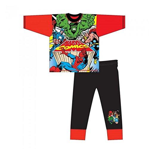 Marvel - Pijama de Manga Larga Infantil de los...
