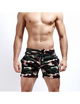 SEY Troncos de natación - pantalones cortos de verano Pantalones cortos de camuflaje de los hombres tendencia...