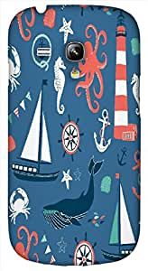 Timpax Light Weight One-piece construction Hard Back Case Cover Printed Design : A adventure on the sea.Specifically Design For : Samsung I8190 Galaxy S3 mini