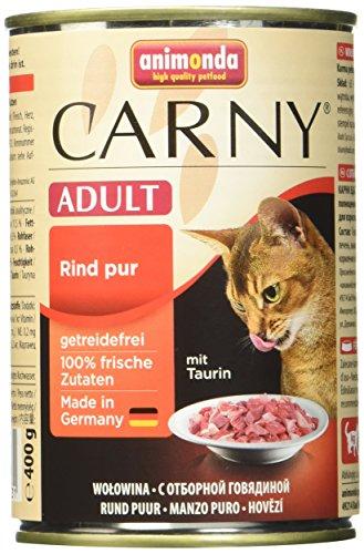 Ohne Getreide Katzenfutter (Animonda Katzenfutter Carny Adult Mix1 aus 4 Varietäten, 12er Pack (12 x 400 g))