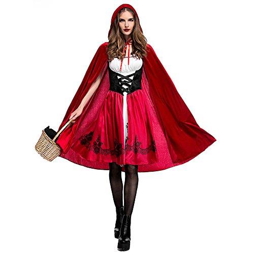 SWYIVY Lady Classic Rotkäppchen Kostüm Party Kleid Größe M
