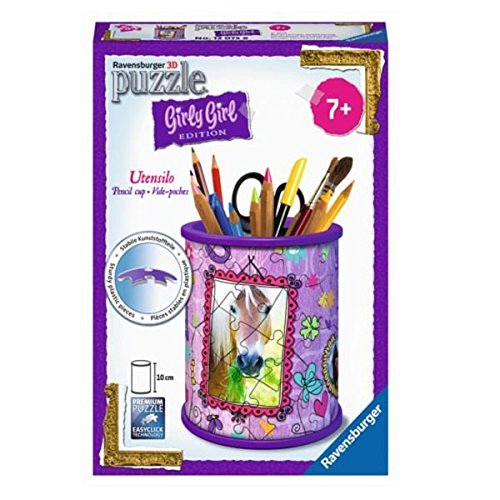 Ravensburger - 12075 - Puzzle 3D Girly Girl - Pot à Crayons