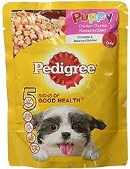 Pedigree Gravy Puppy Food, Chicken and Rice, 80 g (Pack of 5)