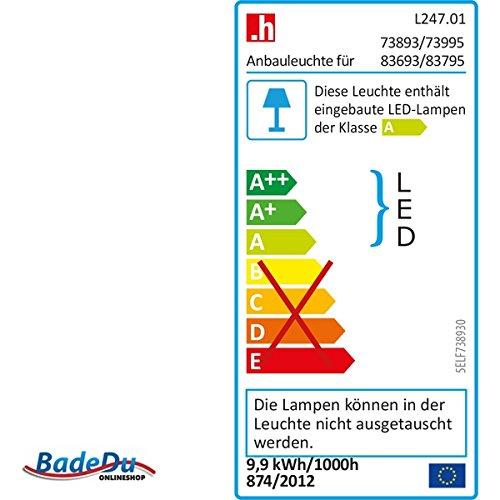 Fackelmann Spiegelschrank Vadea, Hochglanz weiß - 3